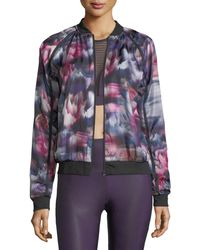 Onzie - Fast Flower Performance Bomber Jacket - Lyst