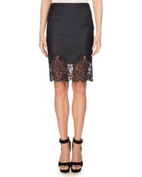 Givenchy - Lace-hem Wool Pencil Skirt - Lyst