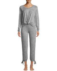 UGG - Fallon Knotted-jersey Pajama Set - Lyst