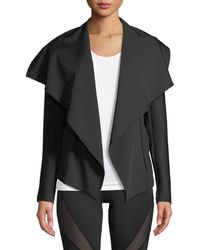 Michi - Chicane Open-front Jacket With Ribbed Sleeves - Lyst