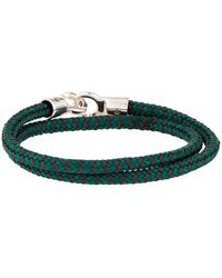 Brace Humanity - Men's Double Tour Rope Wrap Bracelet Gray/green - Lyst