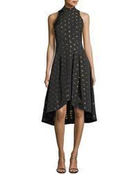 Shoshanna - Lewis High-low Metallic Dot Dress - Lyst