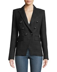 Veronica Beard - Miller Double-breasted Tonal Plaid Jacket - Lyst