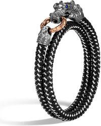 John Hardy - Men's Legends Naga Bracelet W/ Nylon Cord - Lyst
