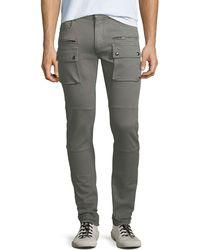 Belstaff - Men's Polmont Garment-dyed Denim Skinny Cargo Jeans - Lyst