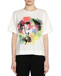 Marni - Frank Naven Collab Short-sleeve Crewneck Cotton Knit T-shirt - Lyst