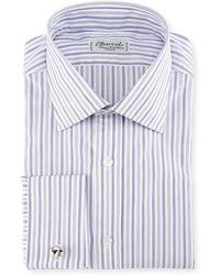 Charvet - Ground-stripe French-cuff Dress Shirt - Lyst