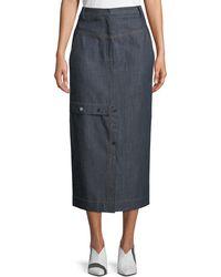 Tibi - Jamie Straight Jeans Long Skirt - Lyst