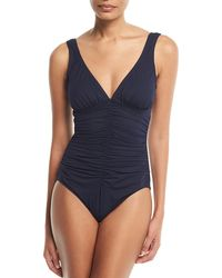 Tommy Bahama | Island Sculpt Underwire Solid One-piece Swimsuit | Lyst
