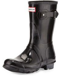 HUNTER - Original Short Gloss Boots - Lyst