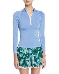 Letarte - Tropical-print Swim Shorts W/ Tassel Trim - Lyst