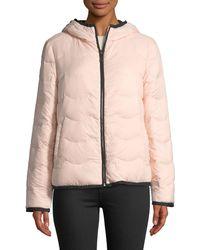 Kate Spade - Hooded & Packable Down Jacket - Lyst