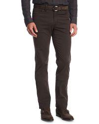 Brioni - Stretch-cotton Straight-leg Pants - Lyst
