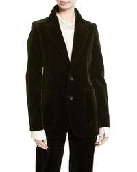 JOSEPH - Albert Stretch Velvet Blazer Jacket - Lyst
