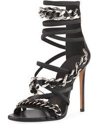 Balmain - Diva Chain-trim Strappy Sandal - Lyst