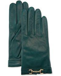 Portolano - Napa Leather Cashmere-lined Gloves W/ Horsebit - Lyst