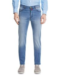 Kiton - Light-wash Denim Straight-leg Jeans - Lyst