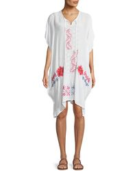 Johnny Was - Tillson Embroidered Georgette Drama Caftan Plus Size - Lyst