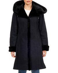 Gorski - Suede Shearling-trim Hooded Short-coat - Lyst