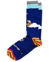 Di Pedarius - High Flying Striped Socks - Lyst