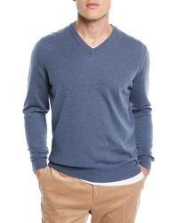 Brunello Cucinelli - Basic Cashmere V-neck Sweater - Lyst