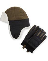 UGG - Men's Mixed Media Hat & Glove Gift Set - Lyst