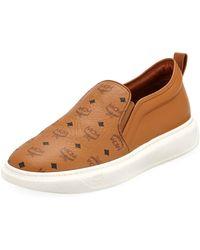 60a47650f9f Lyst - MCM Visetos Men s Low-top Sneakers in Brown for Men