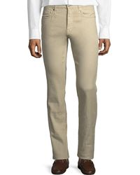Incotex - 5-pocket Chino Flat-front Trousers - Lyst