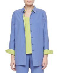 Go> By Go Silk - Colorblocked Silk Shirt - Lyst