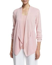 Eileen Fisher - Organic Linen Angled Cardigan - Lyst