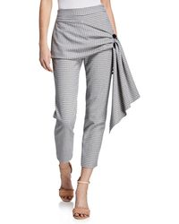 Hellessy - Desmond Stretch Check Pencil Pants - Lyst