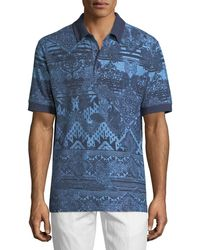 Robert Graham - Koppen Paisley-print Polo Shirt - Lyst