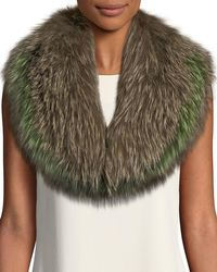 Pologeorgis - Fox Fur Collar Scarf - Lyst