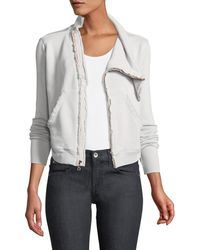 Frank & Eileen - Frayed Zip-front Fleece Jacket - Lyst