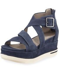 43a7a44f61c6 Eileen Fisher - Boost Leather Platform Sandals - Lyst