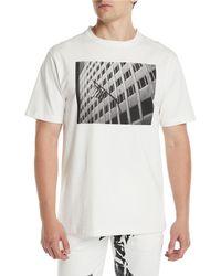 CALVIN KLEIN 205W39NYC - Men's Photographic Flag T-shirt - Lyst