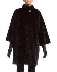 Gorski | Mink Stroller Coats With Chevron Inserts And Batwing Sleeves | Lyst