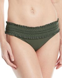 Tory Burch - Costa Embroidered Hipster Swim Bikini Bottom - Lyst