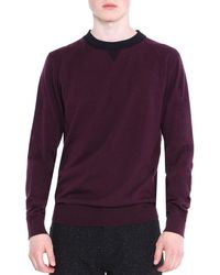 Lanvin - Crewneck Knit Sweater - Lyst