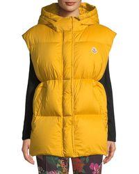 Moncler - Cheveche Puffer Vest W/ Hood - Lyst