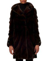 Gorski - Short-nap Mink Fur Stroller Coat W/ Sheared Inserts & Button-cuffs - Lyst