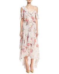 Joie - Cristeta Floral-print Sleeveless Silk Chiffon Dress - Lyst