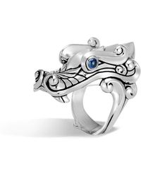 John Hardy - Men's Legends Sapphire Dragon Ring - Lyst