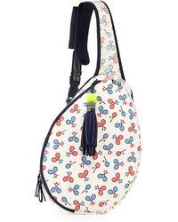 Tory Sport - Racquet-print Tennis Racket Sling Bag - Lyst