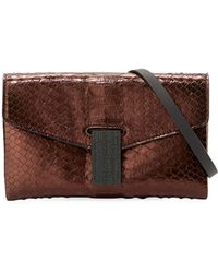 Brunello Cucinelli - City Mini Python Crossbody Bag - Lyst