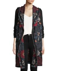 Johnny Was - Bella Hooded Open-front Embroidered Cardigan - Lyst
