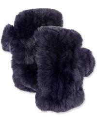 Surell - Fingerless Fur Mittens - Lyst
