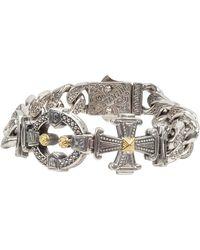 Konstantino - Men's Stavros Sterling Silver Link Bracelet With 18k Gold Details - Lyst