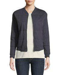 Neiman Marcus - Quilted Zip-front Bomber Jacket - Lyst