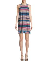 Trina Turk - Macee Lupine Lattice Tank Mini Dress - Lyst